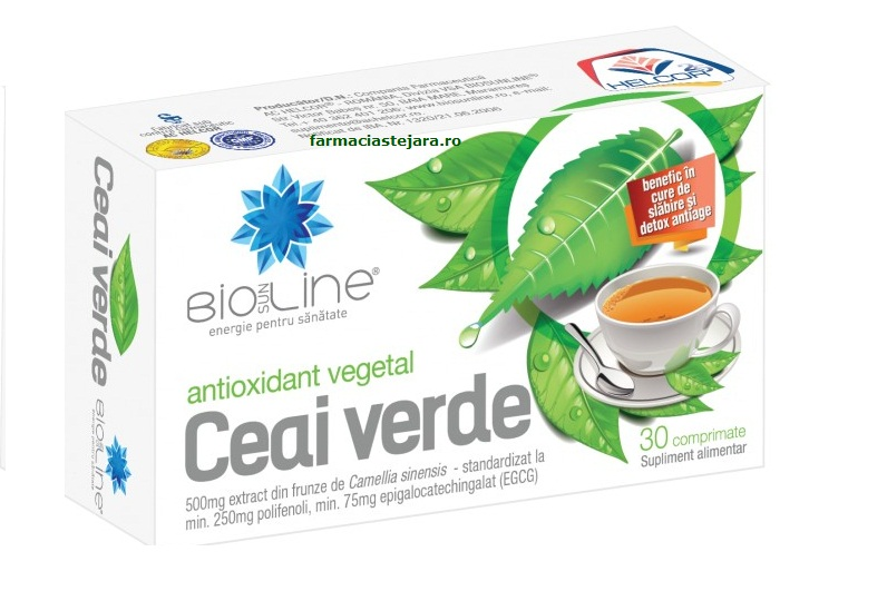 Helcor Ceai verde 500  mg  tablete X 30